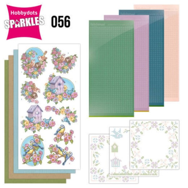 Kit Sparkles Set 56 - Fleurs et oiseaux - Photo n°1