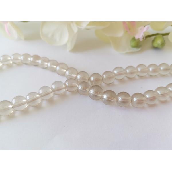 Perles en verre 8 mm argenté brillant x 20 - Photo n°2