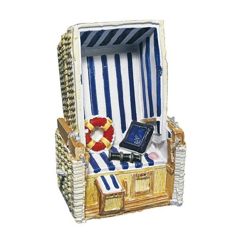Cabine de plage normande d corative en r sine color e for Cabine de plage en bois pour jardin