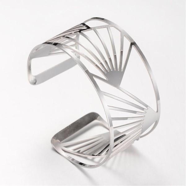 Bracelet manchette acier inoxydable x 1 - Photo n°2