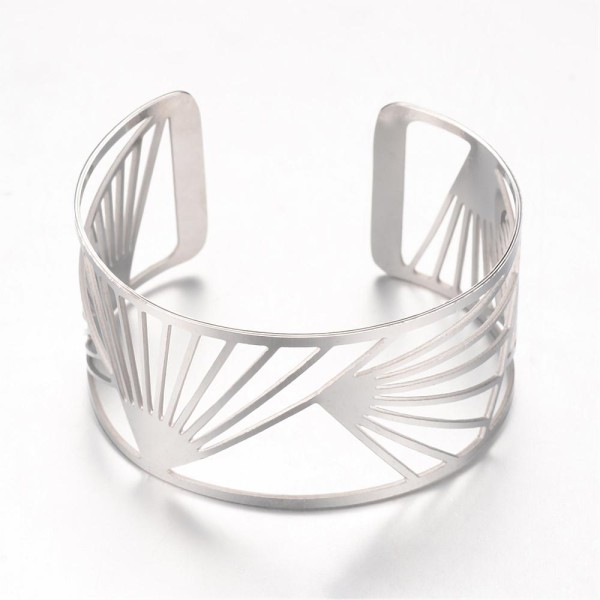 Bracelet manchette acier inoxydable x 1 - Photo n°1