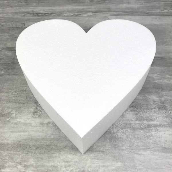 Socle plat Coeur 2D en polystyrène blanc, Largeur 35 cm x Epais. 7cm, 28 kg/ m3 - Photo n°1