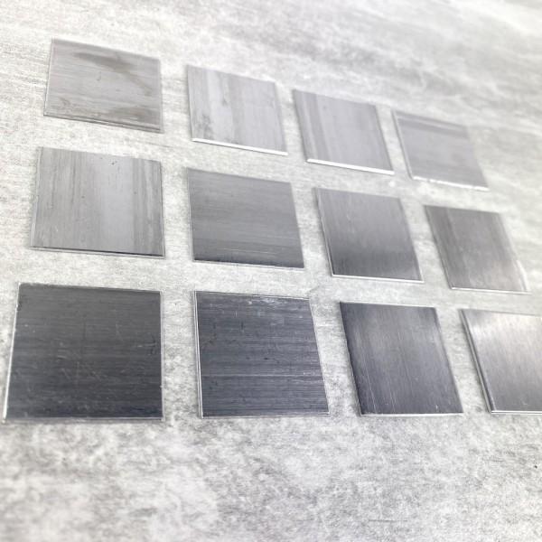 Lot de 12 Supports en Aluminium pour Efcolor, Carré, 20 × 20 mm - Photo n°2