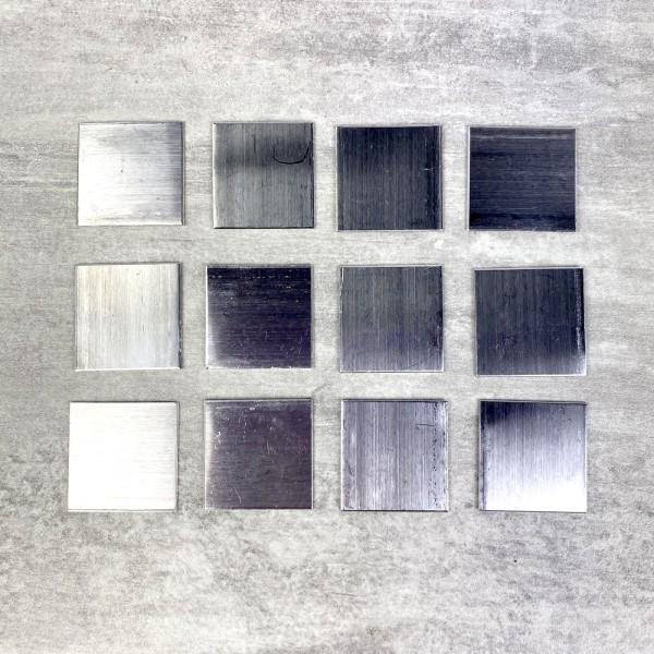 Support en Aluminium pour Efcolor, Carré, 20 × 20 mm, 12 pièces - Photo n°1