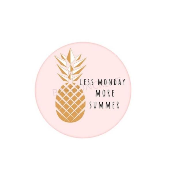 Ananas Doré Less Monday More Summer 2 Cabochons - Photo n°1