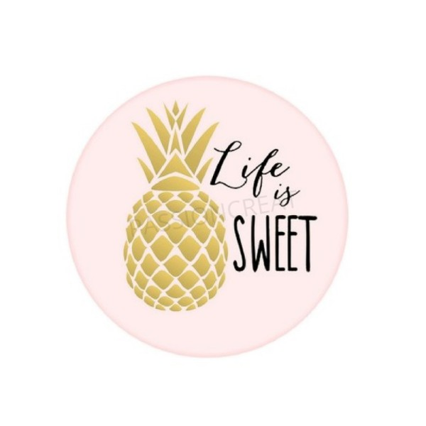 Ananas Doré Life Is Sweet 2 Cabochons - Photo n°1