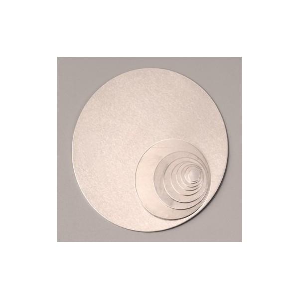 Support en Aluminium pour Efcolor, cercle, ø Diamètre 40 mm, 5 pièces - Photo n°1