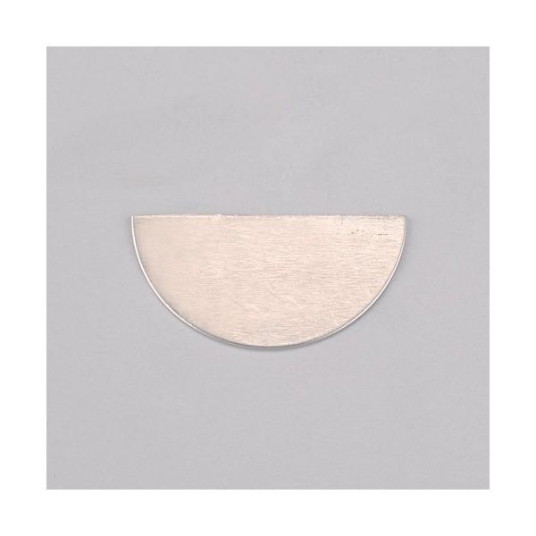 Support en aluminium pour Efcolor, Demi-cercle, 40 × 20 mm, 8 pièces - Photo n°1