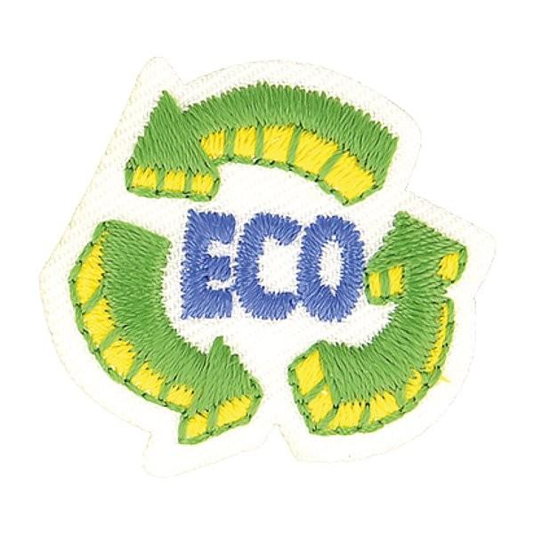 Ecusson thermocollant éco friendly tissu bio eco 7cm x 5cm - Photo n°1