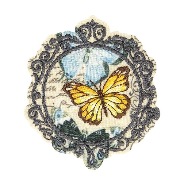 Ecusson thermocollant vintage papillon 5,5cm x 4,5cm - Photo n°1