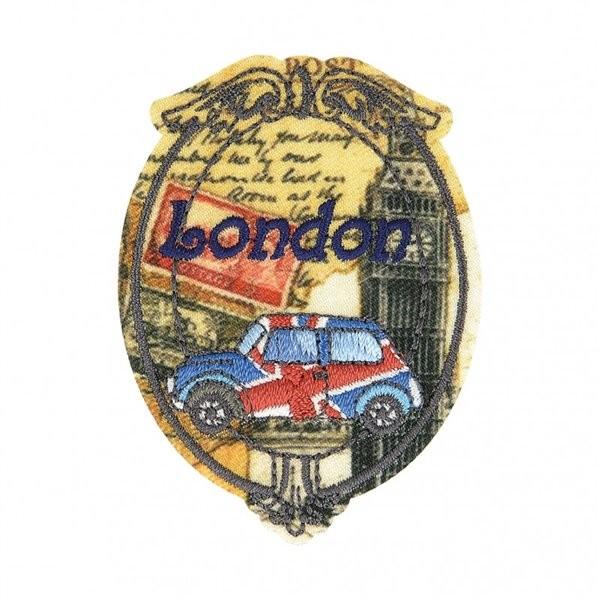 Ecusson thermocollant vintage London 6cm x 4,5cm - Photo n°1