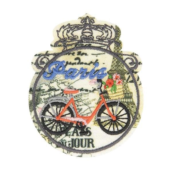 Lot de 3 écussons thermocollants vintage vélo 6cm x 4,5cm - Photo n°1