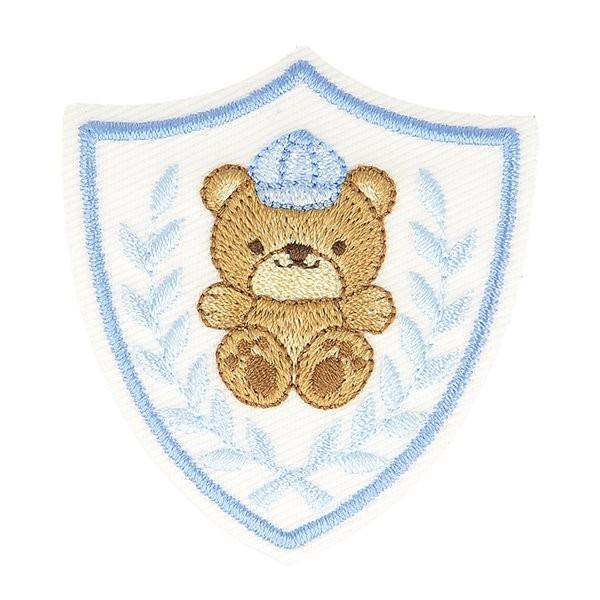 Lot de 3 écussons thermocollants badge ourson 5cm x 5cm - Photo n°1
