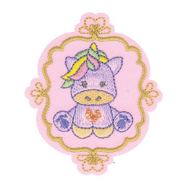 Lot de 3 écussons thermocollants badge licorne 6cm x 5cm - Photo n°1