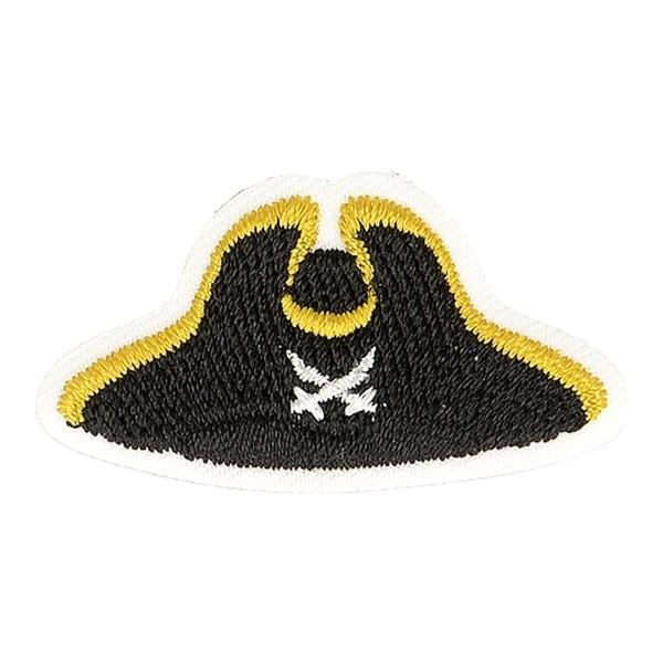 Lot de 3 écussons thermocollants chapeau marin pirate 4cm x 2cm - Photo n°1