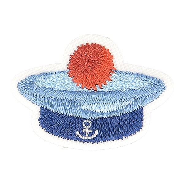 Lot de 3 écussons thermocollants chapeau marin marin 3,5cm x 2,5cm - Photo n°1