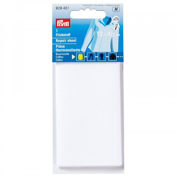 PRYM Pièce thermocollante coton 12x45 cm blanc - Photo n°2