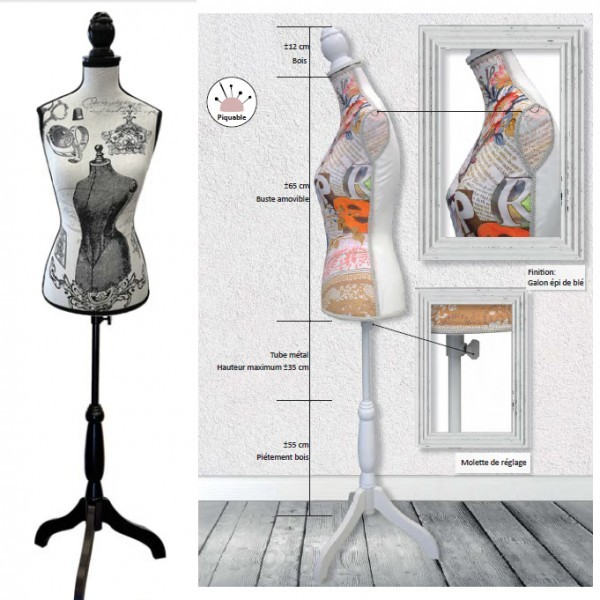 Mannequin couture décoratif motif Collector - Photo n°2
