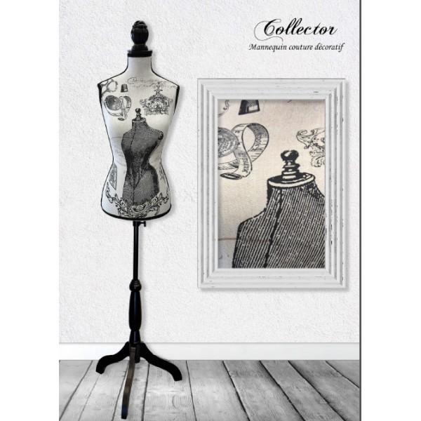 Mannequin couture décoratif motif Collector - Photo n°1