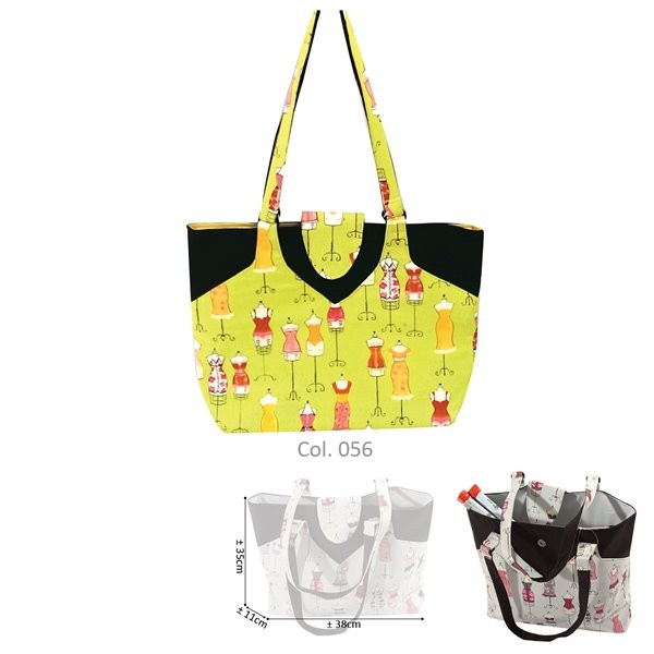 Sac couture/tricot 35cmx11cmx38cm couture anis - Photo n°2