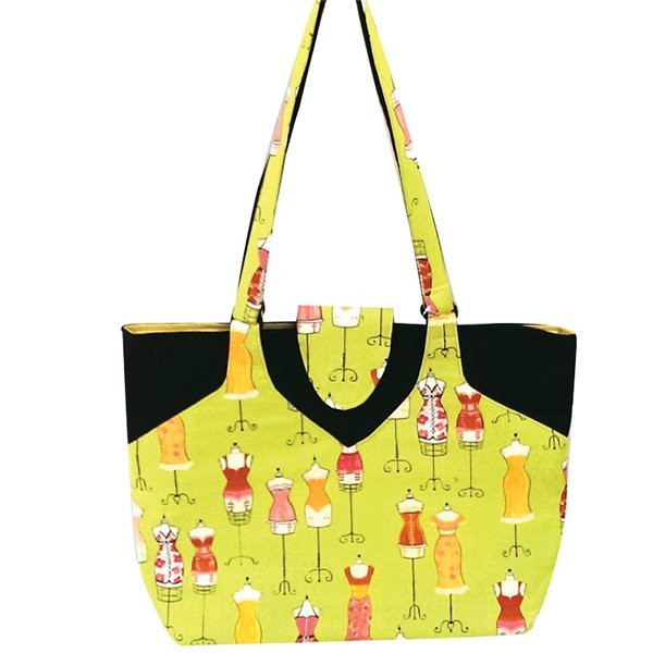 Sac couture/tricot 35cmx11cmx38cm couture anis - Photo n°1