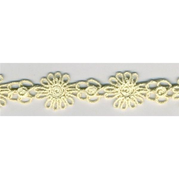 Disquette 10m dentelle guipure coton 24mm Ecru - Photo n°1
