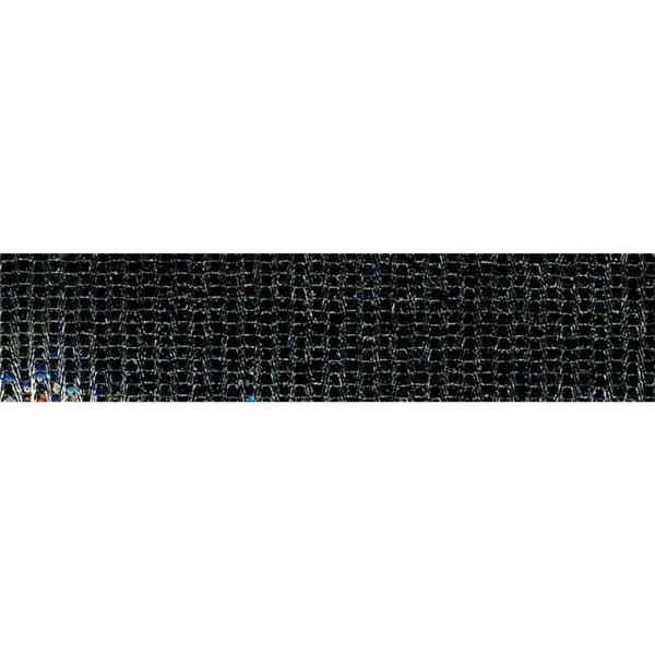 Planchette 10m galon Lurex thermocollant Noir - Photo n°1