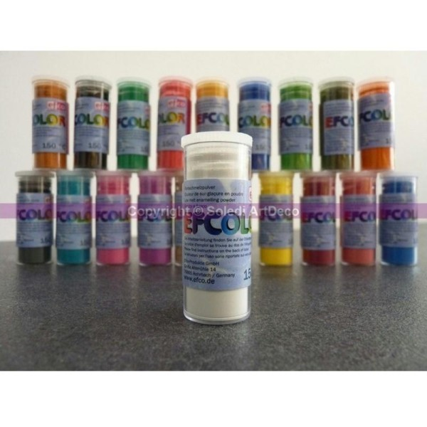 Poudre opaque 10 ml Efcolor pour émaillage à froid à 150°C - Photo n°1