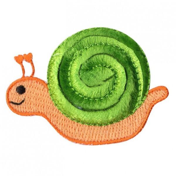 Ecusson escargot thermocollant 5cmx4cm - Photo n°1