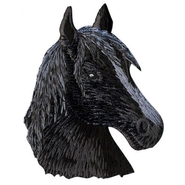 Ecusson thermocollant tête de cheval 4.5cmx5cm - Photo n°1