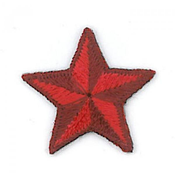 Ecusson thermocollant étoile rouge 2.5cm - Photo n°1