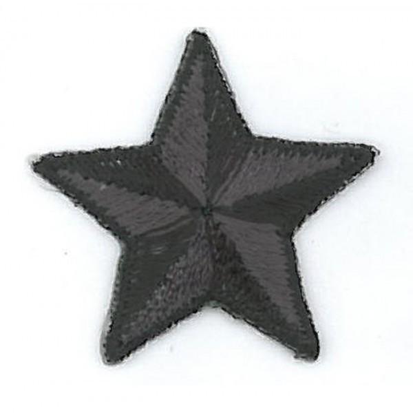 Ecusson thermocollant étoile noir 3cm - Photo n°1