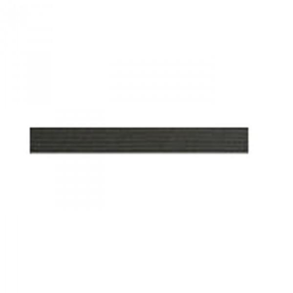 Tresse élastique plate 4mm noir - Photo n°1