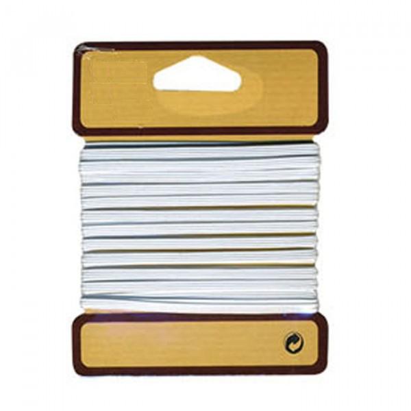 Tresse élastique plate 8mm blanc - Photo n°2