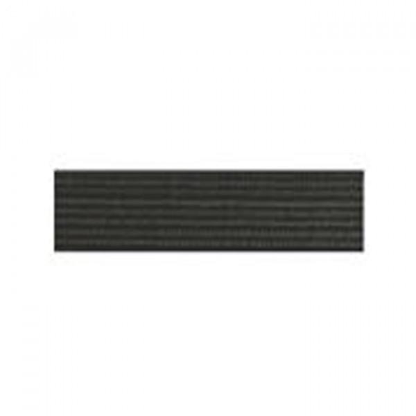 Tresse élastique plate 8mm noir - Photo n°1