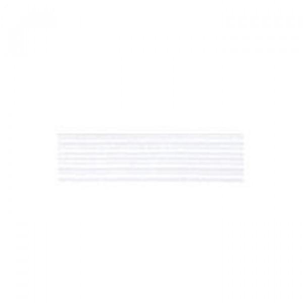 Tresse élastique plate 10mm blanc - Photo n°1