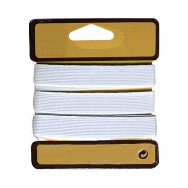 Elastique cotelé fort 15mm blanc - Photo n°2
