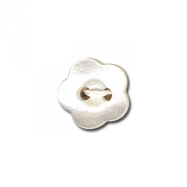 Bouton en forme de Violette couleur Blanc - Photo n°1
