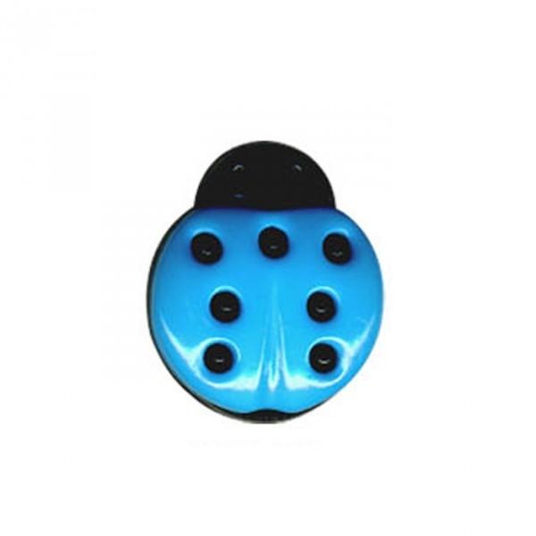Bouton en forme de Coccinelle couleur Bleu - Photo n°1