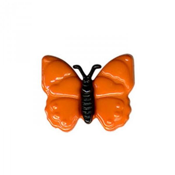 Bouton en forme de Papillon couleur Orange - Photo n°1