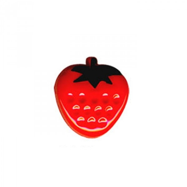 Bouton en forme de Fraise couleur Rouge - Photo n°1
