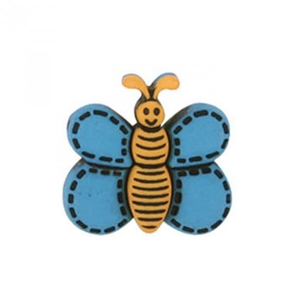 Bouton Papillon couleur Turquoise - Photo n°1