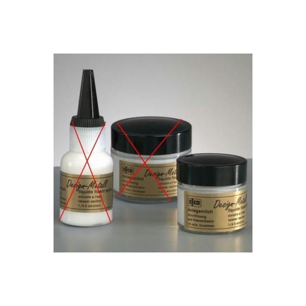 Emulsion de colle fluide, 20 ml, pour feuille d'or, d'argent, métallique - Photo n°1