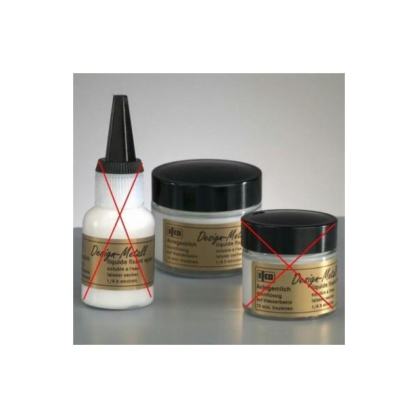 Emulsion de colle fluide, 50 ml, pour feuille d'or, d'argent, métallique - Photo n°1