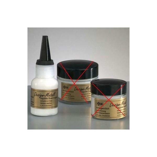 Emulsion de colle épais, 25 ml, pour feuille d'or, d'argent, métallique - Photo n°1