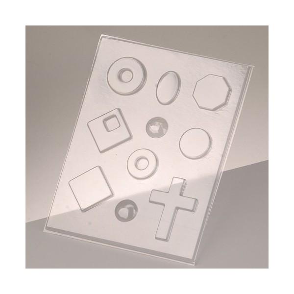 Moule pour résine, cire, savon ou pour bijoux, 10 petites formes - Photo n°1