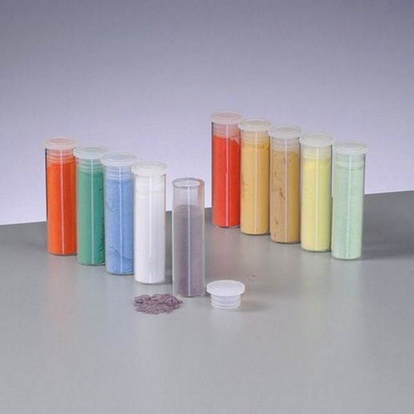 Set de 10 flacons de poudre d'émail opaque de 5 ml, pour cuisson 780°C-850°C - Photo n°1