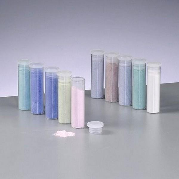 Set de 10 flacons de poudres d'émail transparent de 5 ml, pour cuisson 780°C-850°C - Photo n°1