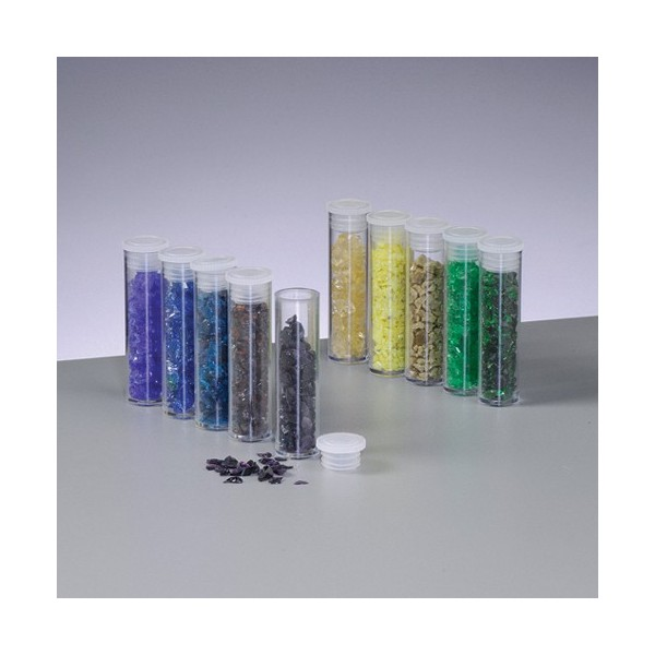 Set de 10 flacons d'éclats d'émail transparent de 5 ml, pour cuisson 780°C-850°C - Photo n°1