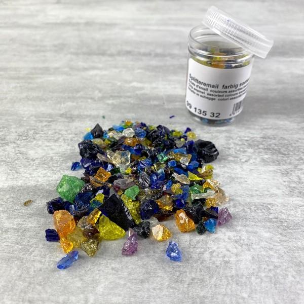 Eclats d'émail couleurs assorties transparentes, 45 g, pour cuisson 780°C-850°C - Photo n°1